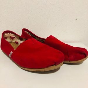 TOMS SIZE 10 W RED